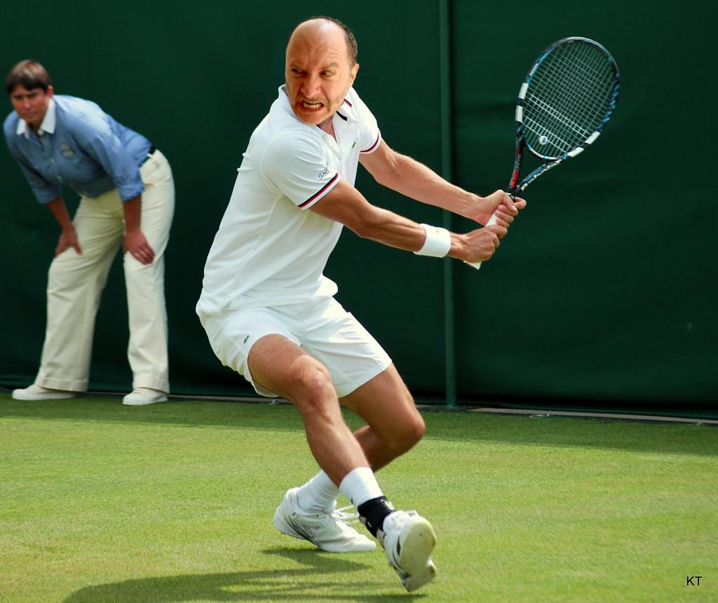 David Delp plays Wimbledon.