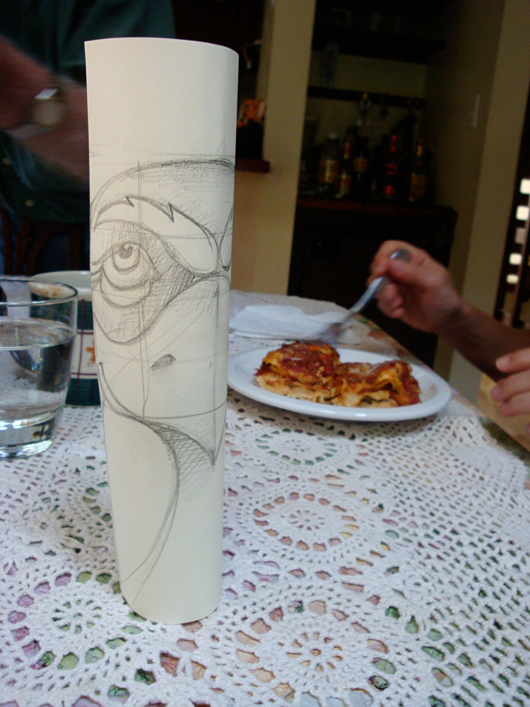 Totem Design on a Rolled Cylinder